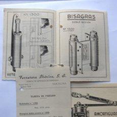 Catálogos publicitarios: PUBLICIDAD / FERRETERIA IBERICA / BARCELONA AÑOS 50 / CATALOGO COMERCIAL. Lote 37316784