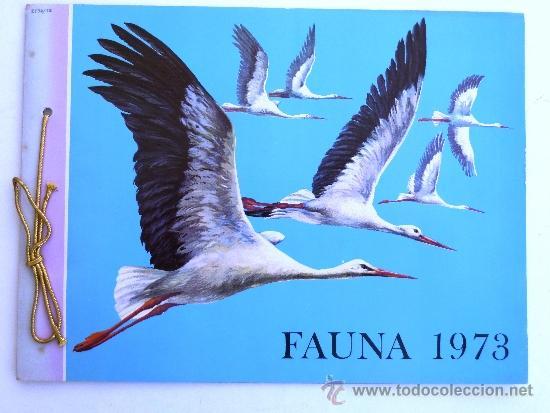 FÁBRICA NACIONAL MONEDA Y TIMBRE. FAUNA 1973. (Coleccionismo - Catálogos Publicitarios)