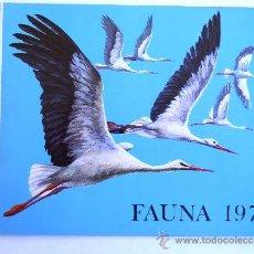 Catálogos publicitarios: FÁBRICA NACIONAL MONEDA Y TIMBRE. FAUNA 1973.. Lote 37517708