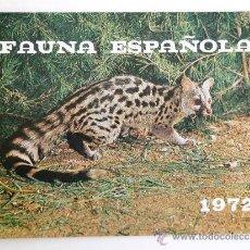 Catálogos publicitarios: FÁBRICA NACIONAL MONEDA Y TIMBRE. FAUNA ESPAÑOLA 1972. Lote 37529847