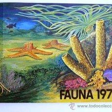 Catálogos publicitarios: FÁBRICA NACIONAL MONEDA Y TIMBRE. FAUNA 1979. INVERTEBRADOS I.. Lote 37529993