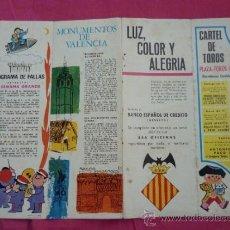 Cataloghi pubblicitari: VALENCIA: PUBLICIDAD CON CARTEL DE TOROS Y FALLAS. MAPA. BANESTO. 1966. Lote 37634154