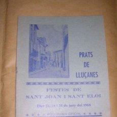 Catálogos publicitarios: PRATS DE LLUÇANES - PROGRAMA ,FIESTA MAYOR 1968 - FESTES DE SANT JOAN I SANT ELOI 8 PAG. 20X16 CM. . Lote 37706300