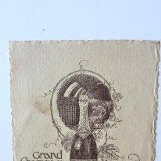 Catálogos publicitarios: TARGETA PUBLICIDAD COMPAGNIE GENERALE DES GRANDS VINS MOUSSEUX. GRAND CHAMPAGNE MAXIM'S . CHAMPAÑ. Lote 38082574