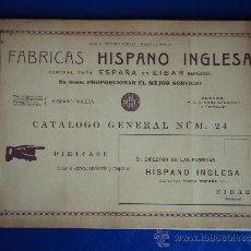Catálogos publicitarios: (CAT-308)CATALOGO DE FABRICAS HISPANO INGLESA.-EIBAR-(ARMAS,BICICLETAS,RELOJES,ETC.). Lote 38294774