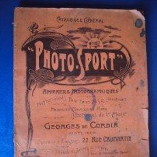 Catálogos publicitarios: (CAT-37)CATALOGO DE CAMARAS Y ACCESORIOS DE FOTOGRAFIA,PHOTO-SPORT,FRANCES,96 PAGINAS. Lote 38345835