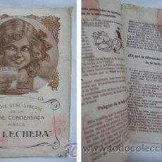 Catálogos publicitarios: FOLLETO PUBLICIDAD : LA LECHERA. NESTLE. Lote 38610997