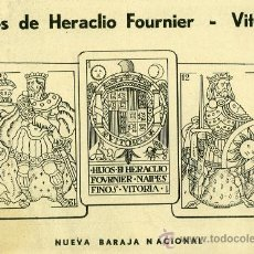 Catálogos publicitarios: PUBLICIDAD HIJOS DE HERACLIO FOURNIER. VITORIA. NUEVA BARAJA NACIONAL. AÑO 1939. Lote 38678146