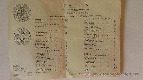 Catálogos publicitarios: carta menú restaurante antigua casa sobrino de botin Madrid cuchilleros . desplegable. plano. - Foto 2 - 38709313