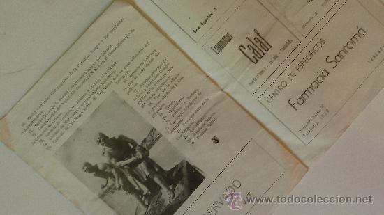 Catálogos publicitarios: carta menú restaurante antigua casa sobrino de botin Madrid cuchilleros . desplegable. plano. - Foto 3 - 38709313