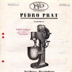 Cataloghi pubblicitari: PUBLICIDAD PEDRO PRAT SABADELL BATIDORA MEZCLADORA . Lote 38712892
