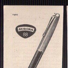 Werbekataloge - Anuncio publicitario de pluma Aurora 88, agosto de 1957 - 39039896