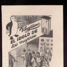 Catálogos publicitarios: ANUNCIO PUBLICITARIO DE LAVADORA PINGÜINO, AGOSTO DE 1957. Lote 39039905