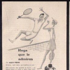 Catálogos publicitarios: ANUNCIO PUBLICITARIO DE AQUA VELVA, AGOSTO DE 1957. Lote 39043957