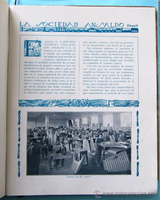 Catálogos publicitarios: CATÁLOGO DE LOS AEROPLANOS ANSALDO. SOCIETA ANONIMA ITALIANA GIO ANSALDO & C. ROMA-GENOVA, 1919. - Foto 5 - 39276806