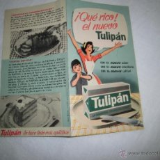 Catálogos publicitarios: FOLLETO PUBLICITARIO TULIPAN 1962 . Lote 39333540