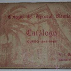 Catálogos publicitarios: CATÁLOGO CURSO 1947 – 1948. VIGO, BELLA-VISTA. COLEGIO DEL APOSTOL SANTIAGO RM63293. Lote 39365932
