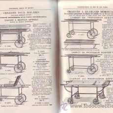Catálogos publicitarios: APPAREILS SPECIAUX POUR HOPITAUX. 1906. Lote 39387036