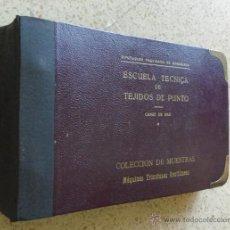 Catálogos publicitarios: MUESTRARIO CATALOGO ESCUELA TECNICA TEJIDOS DE PUNTO CANET DE MAR DIPUTACIÓN PROV,BARCELONA. Lote 39835052