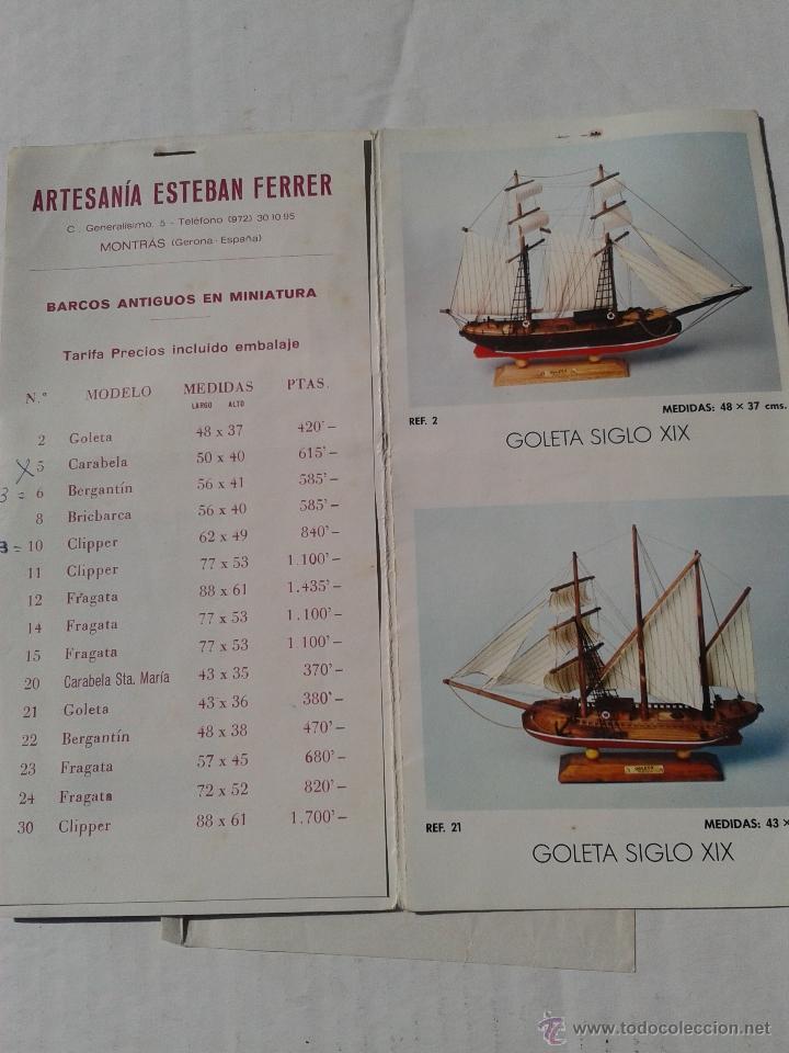 ANTIGUO CATALOGO BARCOS ANTIGUOS EN MINIATURA AÑO 1975 (Coleccionismo - Catálogos Publicitarios)