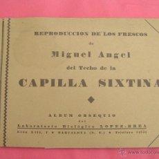 Catálogos publicitarios: ÁLBUM PUBLICITARIO LABORATORIOS LOPEZ-BREA . FRESCOS DE MIGUEL ANGEL CAPILLA SIXTINA.1934. Lote 39671852
