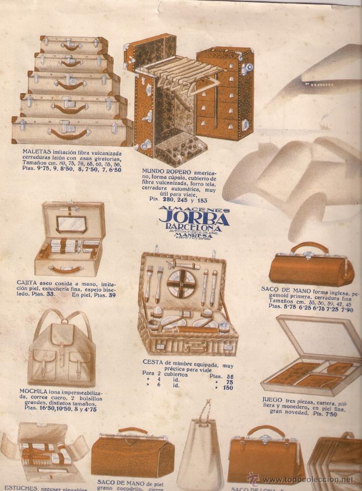 Almacenes jorba publicidad de maletas sombrer comprar for Maletas antiguas online