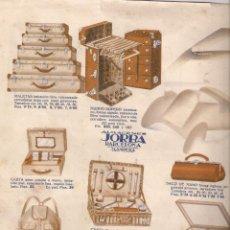 Catálogos publicitarios: ALMACENES JORBA- PUBLICIDAD DE MALETAS, SOMBREROS, BAÑO...... Lote 39731695