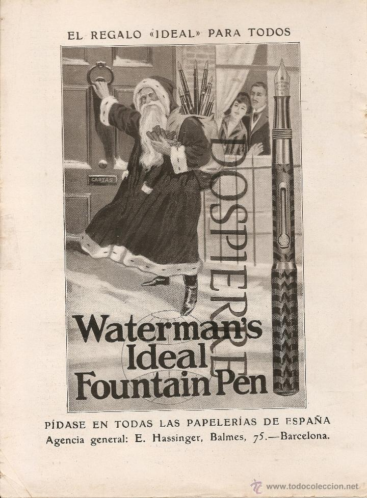 RECORTE DE PRENSA, PUBLICIDAD PLUMAS WATERMAN´S, AÑOS 20 (Coleccionismo - Catálogos Publicitarios)