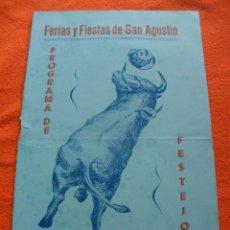 Catálogos publicitarios: PROGRAMA DE FERIAS Y FIESTAS DE SAN AGUSTIN, PEDRAJAS DE SAN ESTEBAN.VALLADOLID AÑO 1954.. Lote 40030550
