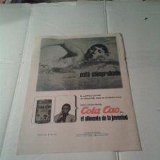 Catálogos publicitarios: ANTIGUA PUBLICIDAD ORIGINAL DE PRENSA COLA CAO. Lote 40254507