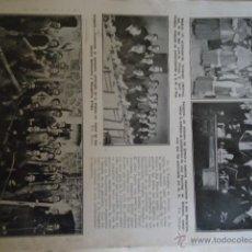 Catálogos publicitarios: 1928 HOJA PRENSA - BANQUETE A BENAVENTE - OTRAS NOTAS- FOTOS MADRID ZARAGOZA ALICANTE MADRID. Lote 40277038