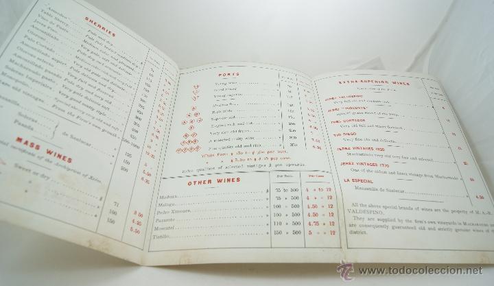 Catálogos publicitarios: A R VALDESPINO PRECIOSOORIGINAL DE EPOCA - Foto 2 - 40278935