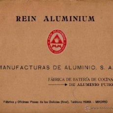 Cataloghi pubblicitari: CATALOGO DE MANUFACTURAS DE ALUMINIO S.A 1925. Lote 40374424