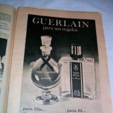 Catálogos publicitarios: PUBLICIDAD DE PERFUMES GUERLAIN · 1966 · ANUNCIO ORIGINAL DE PRENSA. Lote 40539143