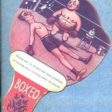 Catálogos publicitarios: ABANICO PAYPAY BOXEO PUBLICIDAD DROGUERÍA SOLER Y MORA BARCELONA. Lote 40591751
