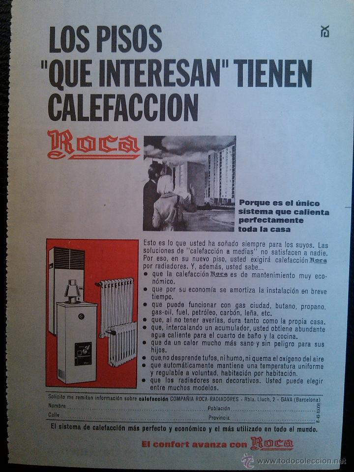 Publicidad calefaccion roca a os 60 70 comprar cat logos for Catalogo roca calefaccion