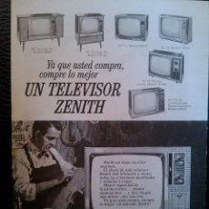 Catálogos publicitarios: PUBLICIDAD TELEVISOR ZENITH AÑOS 60 70. Lote 40680888