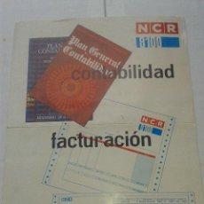 Catálogos publicitarios: ANTIGUA PUBLICIDAD ORIGINAL NCR 8100 FACTURACION AÑOS 70. Lote 41061390