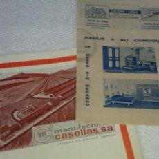 Catálogos publicitarios: ANTIGUA PUBLICIDAD ORIGINAL MANUFACTURAS CASELLAS BESCANO AÑOS 70. Lote 41225901