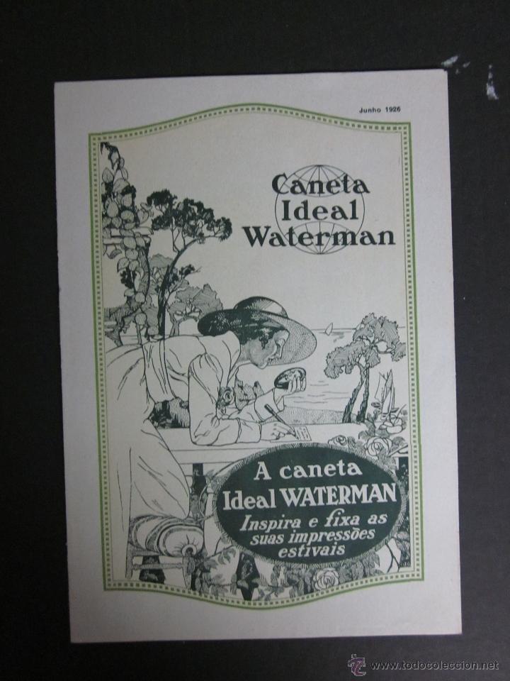 CATALOGO PLUMAS WATERMAN - JUNIO 1926 - EN PORTUGUES -TRIPTICO 6 HOJAS (Coleccionismo - Catálogos Publicitarios)