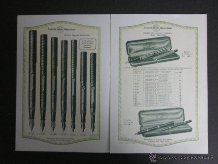 Catálogos publicitarios: CATALOGO PLUMAS WATERMAN - JUNIO 1926 - EN PORTUGUES -TRIPTICO 6 HOJAS - Foto 2 - 41268612