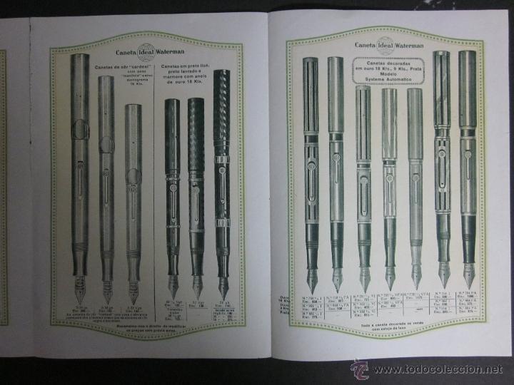 Catálogos publicitarios: CATALOGO PLUMAS WATERMAN - JUNIO 1926 - EN PORTUGUES -TRIPTICO 6 HOJAS - Foto 3 - 41268612