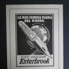 Catálogos publicitarios: CATALOGO PLUMILLAS ESTERBROOK - 4 HOJAS . Lote 41269217