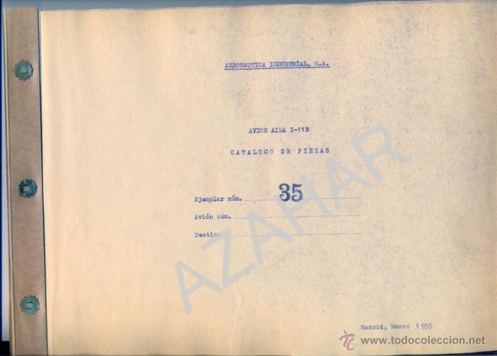 Catálogos publicitarios: MADRID,1955, CATALOGO DE PIEZAS DEL AVION AISA I-11B,RARISIMO,73 PAGS. - Foto 2 - 41270522