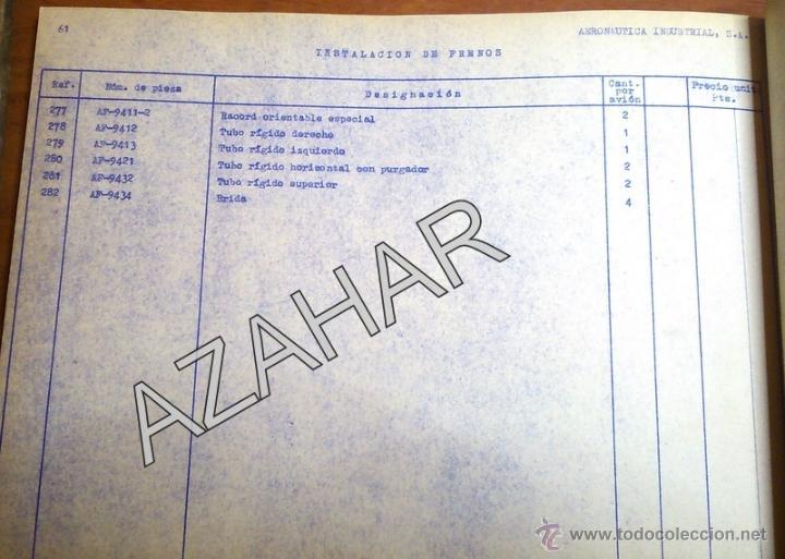 Catálogos publicitarios: MADRID,1955, CATALOGO DE PIEZAS DEL AVION AISA I-11B,RARISIMO,73 PAGS. - Foto 6 - 41270522