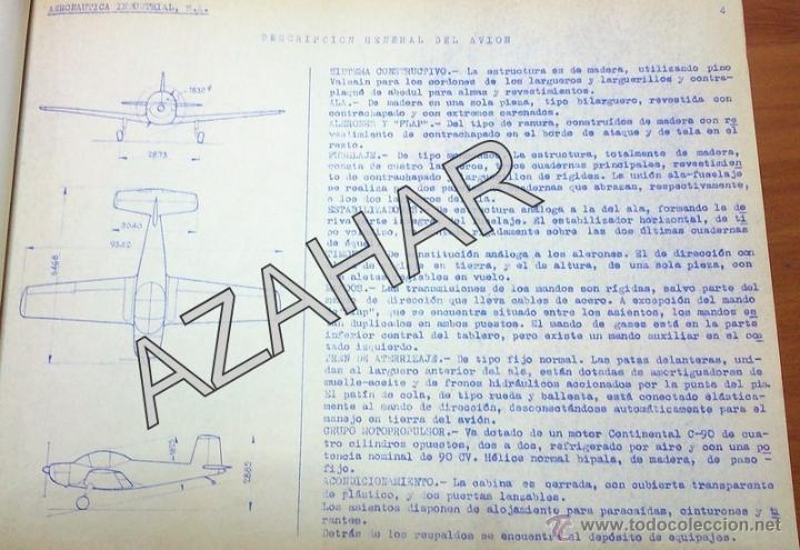 Catálogos publicitarios: MADRID,1955, CATALOGO DE PIEZAS DEL AVION AISA I-11B,RARISIMO,73 PAGS. - Foto 11 - 41270522