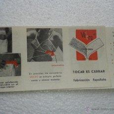Catálogos publicitarios: ANTIGUA PUBLICIDAD ORIGINAL VELCRO FABRICACION ESPAÑOLA AÑOS 70. Lote 41302131
