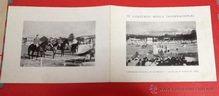 III CONCURSO HIPICO INTERNACIONAL ENLAS MESTAS GIJÓN 1964 (Coleccionismo - Catálogos Publicitarios)