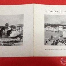 Catálogos publicitarios: III CONCURSO HIPICO INTERNACIONAL ENLAS MESTAS GIJÓN 1964. Lote 41304538
