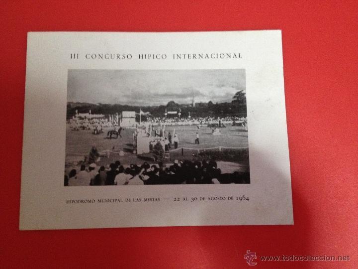 Catálogos publicitarios: III CONCURSO HIPICO INTERNACIONAL ENLAS MESTAS GIJÓN 1964 - Foto 4 - 41304538